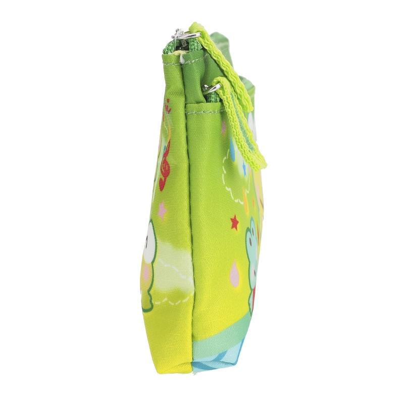 9-6821-17 Sanrio Kero Kero Keroppi Double Zip Polyester Pouch